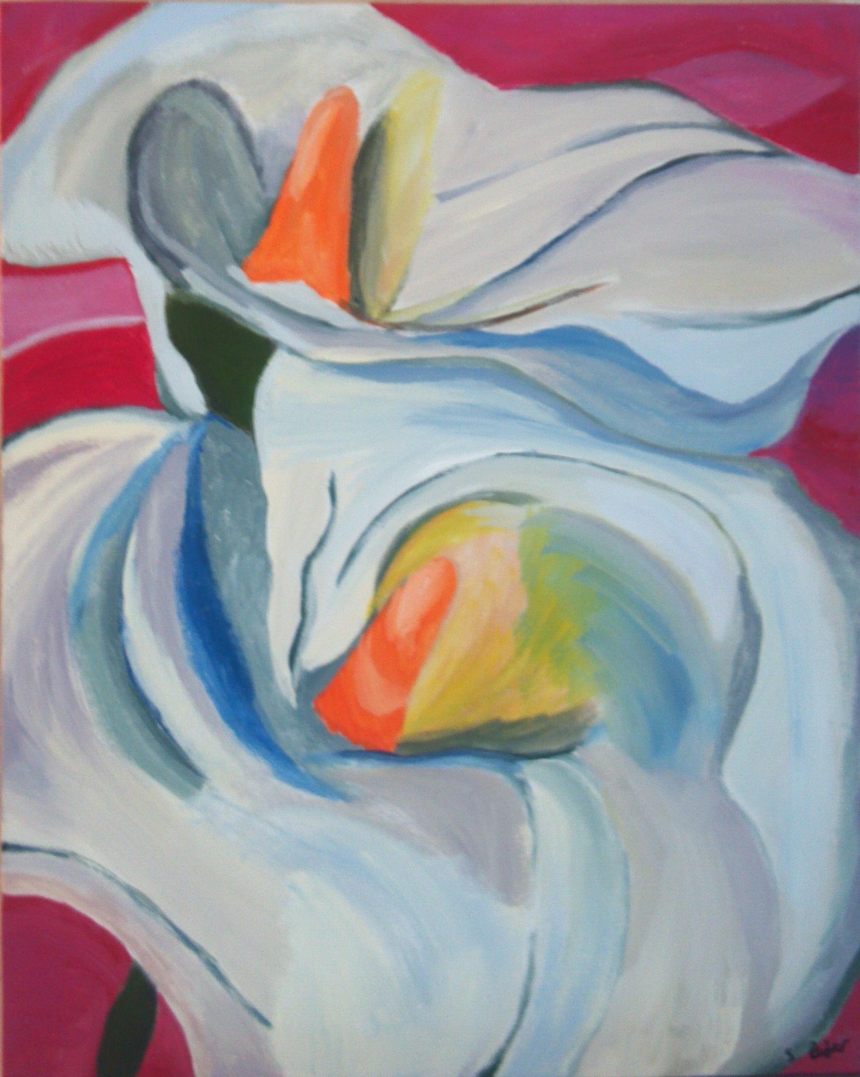 calla-lilies-acrylic-painting